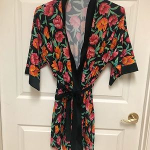 Vintage Dressing Gown Kimono Med